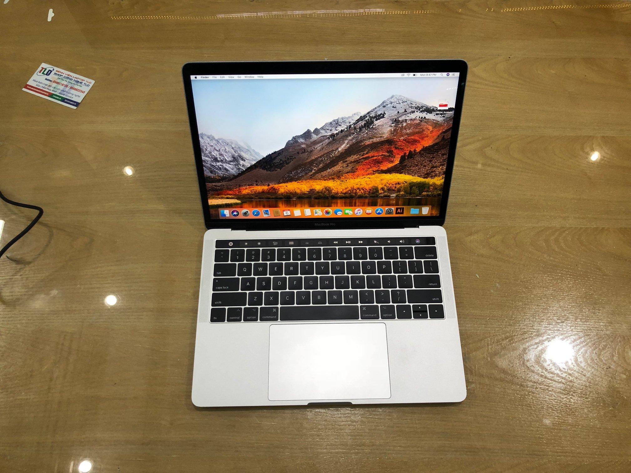 MacBook Pro 13 inch Touch Bar Silver MPXY2 Core i7 3,5Ghz, Ram 16GB