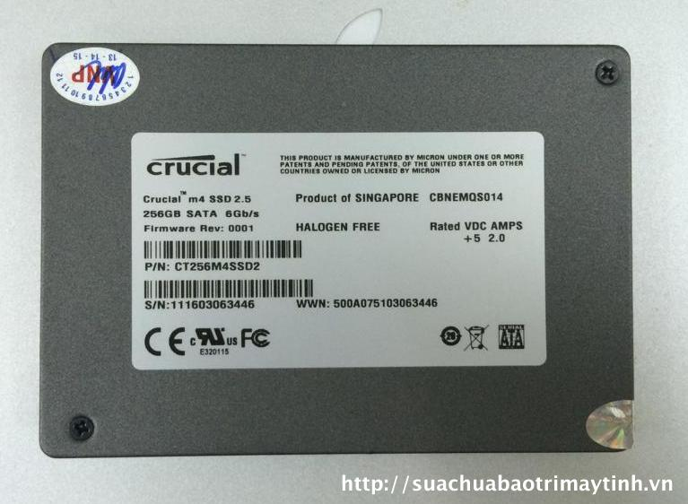 Ổ Cứng SSD Crucial 256GB 2,5''
