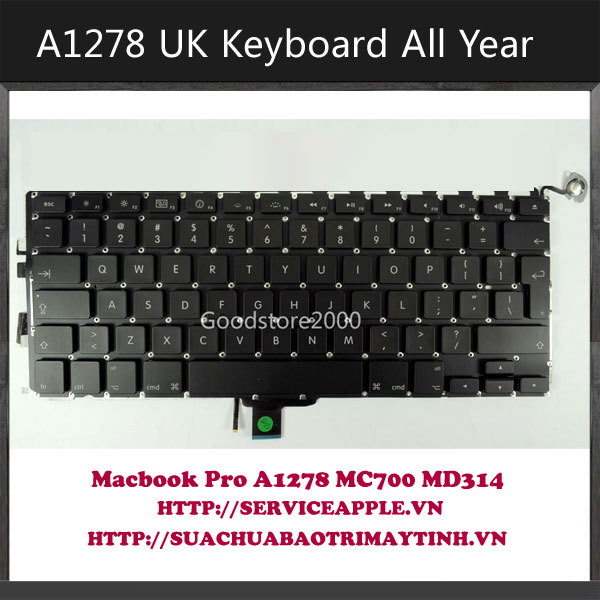 Keyboard Macbook Pro A1278 MD314 MC700.JPG