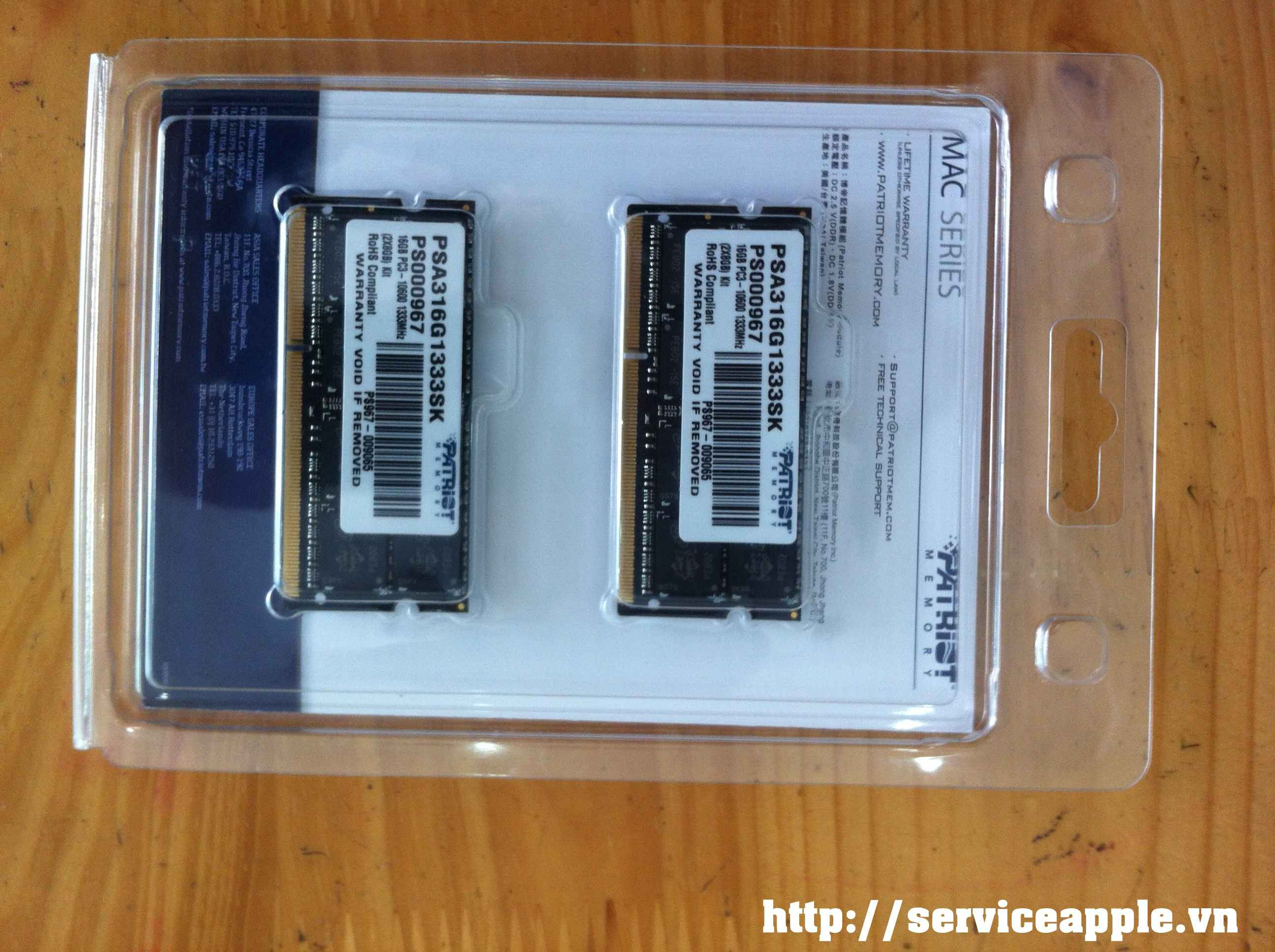 Ram Macbook 16GB Bộ Kiss 8x2   Patriot